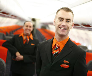male flight steward